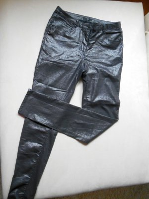 H&M Skinny Glanz Stretch Jeans Anthrazit