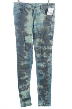 H&M Skinny Jeans Batikmuster Punk-Look