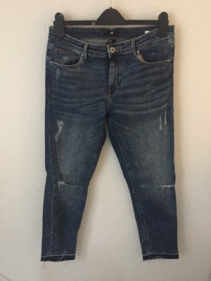 H&M Skinny Jeans Blau Destroyed