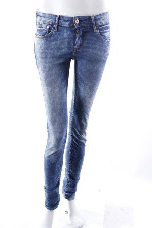 H&M Skinny Jeans blau gemustert
