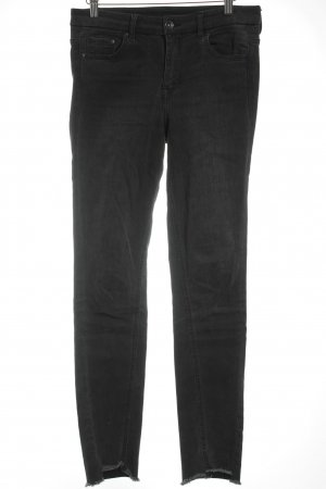H&M Skinny Jeans dunkelgrau Destroy-Optik