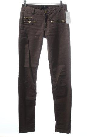 H&M Skinny Jeans dunkelgrün-khaki schlichter Stil