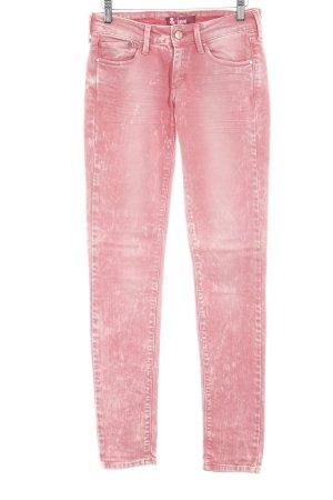 H&M Skinny jeans lichtrood gestippeld zure was