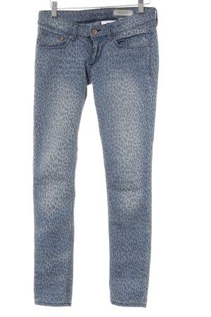 H&M Skinny Jeans himmelblau-graublau Animal-Look