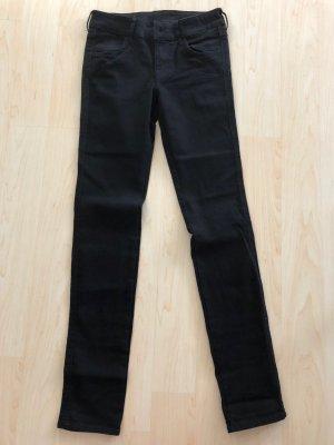 H&M Skinny Jeans low waist schwarz 26/32