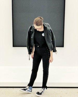 H&M Jeans black-silver-colored