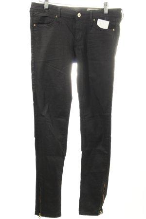 H&M Skinny Jeans schwarz klassischer Stil