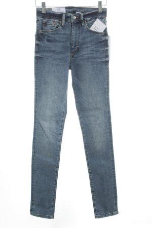 H&M Skinny jeans staalblauw-donkerblauw casual uitstraling
