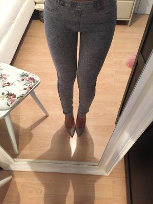 H&M skinny Jeans Treggings grau 34