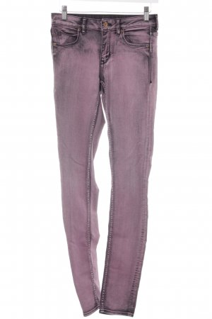 H&M Skinny Jeans violett-schwarz Casual-Look