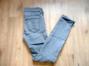 H&M Skinny Low Waist Jeans Grau