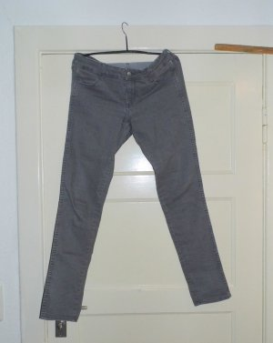 H&M skinny low waist superstretch Grau