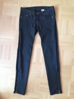 H&M Skinny Low Waist W 26 Jeans in schwarz