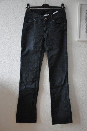 H&M Skinny Pants aus Cord, dunkelblau navy Gr S