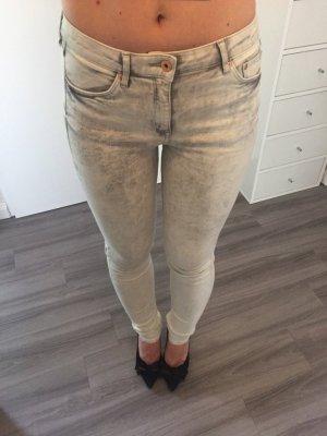 H&M Skinny regular waist 28/32 Jeans hellgrau
