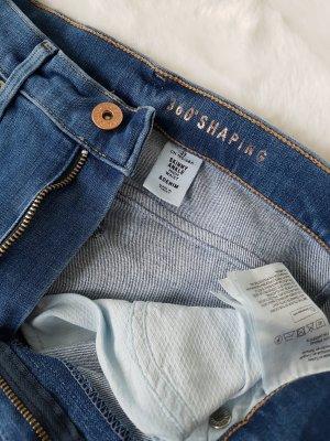 H&M High Waist Jeans steel blue-cornflower blue
