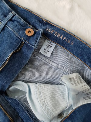 H&M Jeans a vita alta blu acciaio-blu fiordaliso