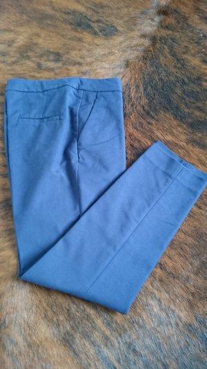 H&M Slacks Knöchelhose Bundfaltenhose blau 36
