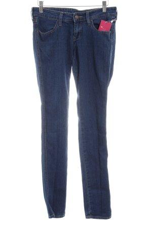 H&M Slim Jeans blau meliert Casual-Look