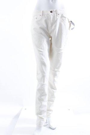 H&M Slim Jeans cremefarben