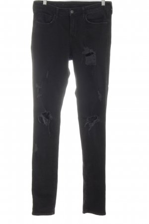 H&M Slim Jeans schwarz Casual-Look