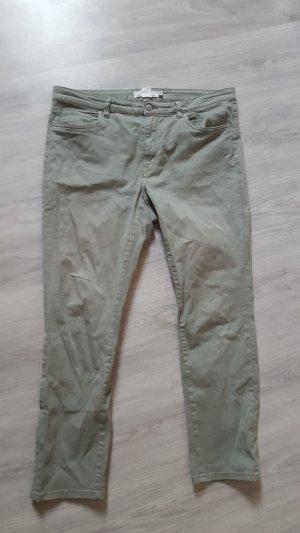 H&M Slim Jeans gerade Größe 44 graugrün Damen Hose