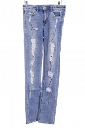 H&M Slim Jeans graublau Boyfriend-Look