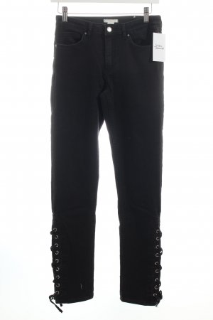 H&M Slim Jeans schwarz Washed-Optik
