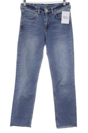 H&M Slim Jeans stahlblau Casual-Look