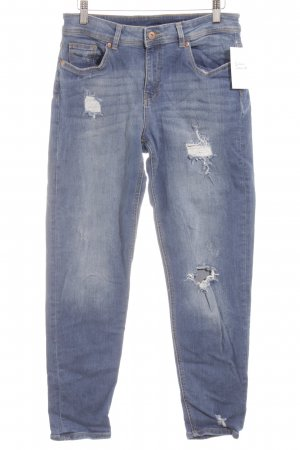 H&M Slim Jeans stahlblau Destroy-Optik