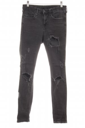 H&M Slim Jeans taupe Destroy-Optik