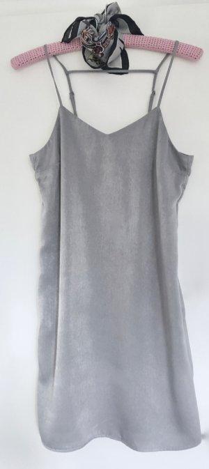 """H&M """"Slip-in-Kleid"""" in schillerndem Grau, NEU + ungetragen, Gr. 36"""