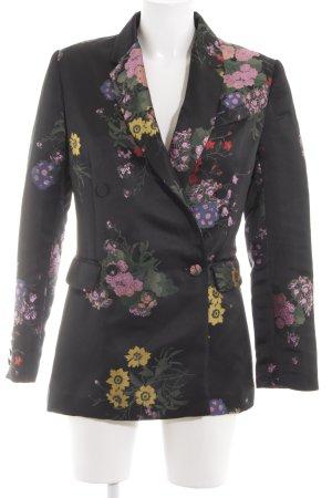 H&M Smoking-Blazer Blumenmuster Elegant
