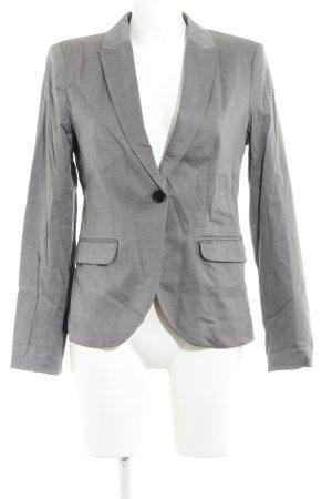H&M Smoking-Blazer grau-schwarz Webmuster Casual-Look