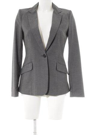 H&M Blazer de esmoquin negro-gris claro moteado estilo «business»