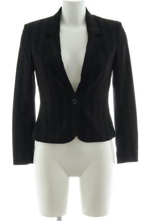 H&M Smoking-Blazer schwarz Streifenmuster Business-Look