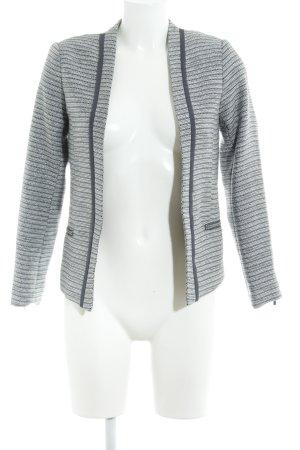 H&M Smoking-Blazer weiß-grau meliert Elegant