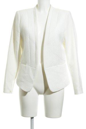 H&M Blazer smoking bianco sporco motivo a zig-zag stile professionale
