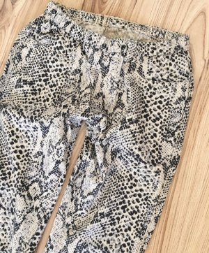 H&M Snake Animalprint Leggings XS 34 Schlangenprint Skinny Ankle Jeggings