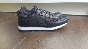 H&M Sneaker 37 schwarz/weiß mit Spitze Lace