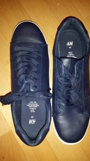 H&M Sneaker, blau, Größe 42