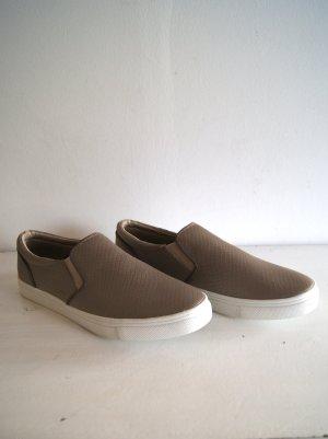 H&M Sneaker Kroko-Imitat, metallic, Gr. 41 NEU