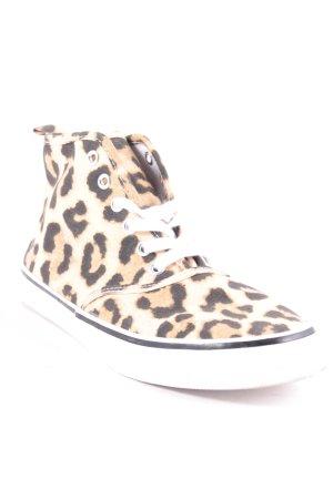 H&M Sneaker schwarz-beige Leomuster Casual-Look