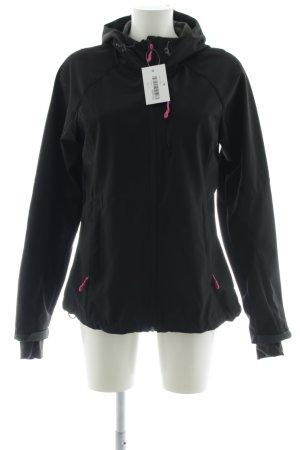 H&M Softshelljacke schwarz-pink sportlicher Stil