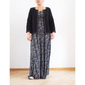 H&M Sommer Maxikleid Zebra Print 38 40 schwarz-weiß langes Kleid Bandeau