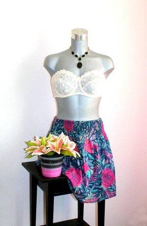 H&M Sommer Rock gr. 40/42 Flower Pink/Blau Design