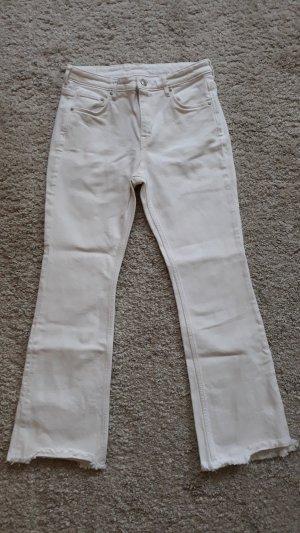 H&M Jeans 7/8 blanc coton