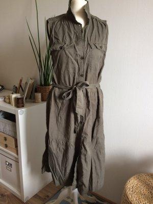 H&M Sommerkleid 40 L khaki neu Volant
