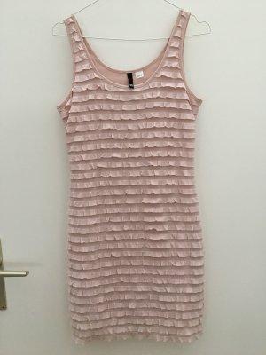 H&M Vestido estilo flounce rosa