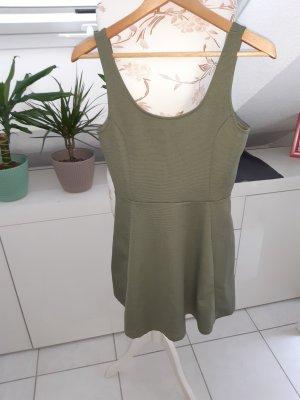 H&M Peplum Dress khaki